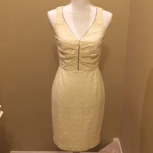 Dresses & Skirts - White lace dress with zipper front design